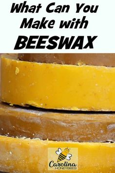 What can you make with beeswax? Beeswax has many uses for items around the home or gift giving. #carolinahoneybees #beeswax #beeswaxuses
