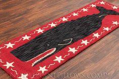 Black Whale Nautical Rug