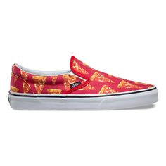 Vans Men's Classic Late Night Slip On Shoes - Mars Red/Pizza
