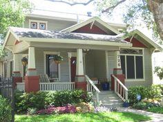 Craftsman Style Porch   Arts & Crafts/Craftsman Style / Bungalow Porch Garden