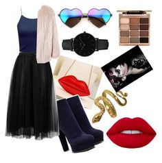 """""""#outfit"""" by nagyanita on Polyvore featuring Casadei, Valentino, Sans Souci, Wildfox, CLUSE and Stila"""