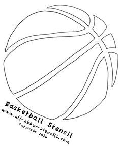 Find many ways to decorate with these Sports Stencils such as furniture painting, stenciling wall borders, custom t shirts or creating art prints. Don't miss these free stencils. Basketball Crafts, Basketball Room, Basketball Party, Basketball Birthday, Basketball Tips, Basketball Posters, Basketball Tattoos, Louisville Basketball, Houston Basketball