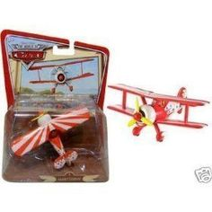 Diney World of Cars Barney Stormin Die Cast Metal Plane