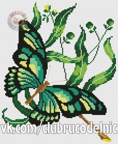 Community wall photos Stitch 2, Cross Stitch, Cactus Plants, Butterfly, Embroidery, Crafts, Arrow Keys, Close Image, Little Birds
