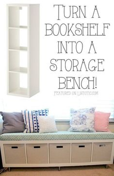 Bookshelf storage bench bedroom storage hacks, ikea hack kids bedroom, make up storage ikea Diy Home Decor Bedroom For Teens, Room Decor For Teen Girls, Diy Home Decor Rustic, Trendy Bedroom, Diy Room Decor, Bedroom Decor, Girls Bedroom, Bedroom Ideas, Bedroom Seating