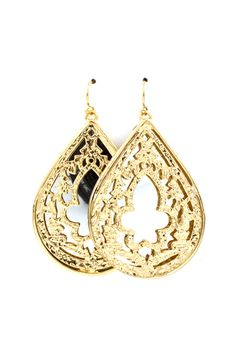 Mirrored Serina Teardrop Earrings - very chic!