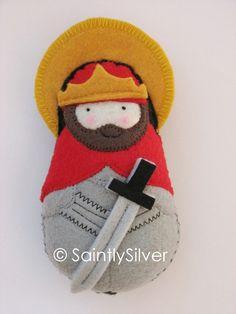 Saint Henry Felt Saint Softie by SaintlySilver on Etsy