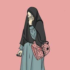 Koleksi 56  Gambar Animasi Muslimah Berhijab Syari  Free