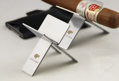 Cohiba Portable Silver Stainless Steel Foldable Cigar Stand Ashtray Holder Price: £13.49