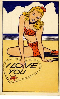 "Comic Girls Say.. ""I love you""  #comic #vintage"