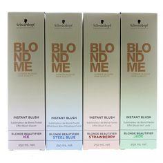 Schwarzkopf Blond Me Instant Blush Spray Blond Beautifier Steel Blue: post sea b… - Modernes Blond Pastel, Hot Hair Colors, Schwarzkopf Professional, Blush, Hair Beauty, Post, Packaging, Passion, Hair