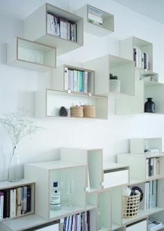 Wohnzimmer Inspiration  Regalsystem, Einrichtung, Wohnen, Bücherregal, Wandregal