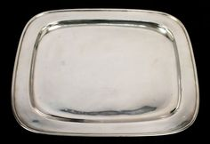 Rendered in fine sterling silver, this hand wrought tray features a sleek design. Free of monograms. In overall very good condition with minor surface scratches and abrasions consistent with age and use. | eBay!