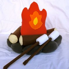 Plush Campfire Set Toy Camp Fire Set by FranconiaRidgeStudio