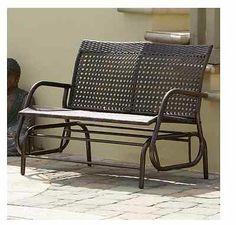 Outdoor Bench Swing Patio Glider Wicker Deck Furniture Porch Lawn Rocking Chair