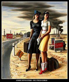 Les demoiselles des champs de pétrole.