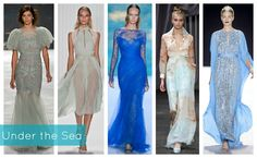 mermaid sea inspiration trends spring 2013 seafoam color of the season fashion week runway shows designer monique lhuillier christian siriano