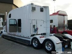 Freightliner with a custom stretched sleeper from the 2008 Mid America Truck Show