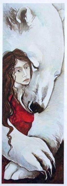 """""""Bear hug"""", card by Jackie Morris"""