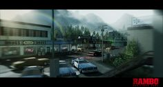 The Town of hope from RAMBO ® THE VIDEO GAME.