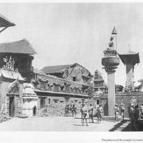 Ruin of Durbar at Kathmandu after Earthquake in 19something