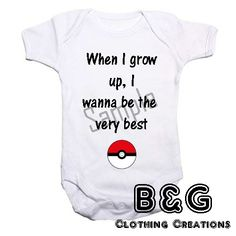 Baby Vesy printed with Pokemon quote. Available in sizes Newborn to 12 - 18 months Please message with size required. | Shop this product here: spreesy.com/bandgclothingcreations/7 | Shop all of our products at http://spreesy.com/bandgclothingcreations | Pinterest selling powered by Spreesy.com