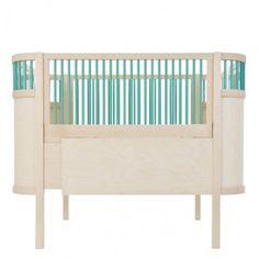Lit bébé évolutif Kili - Nature / Turquoise