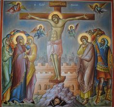 Σταύρωσις / Crucifixion Prayer For Family, Son Of God, Orthodox Icons, Religious Art, Ikon, Jesus Christ, Prayers, Painting, Lds Art