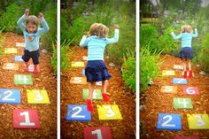 Kid-Friendly Homes | Kid-Friendly Home Design | Fun Homes Hop Scotch in the backyard?