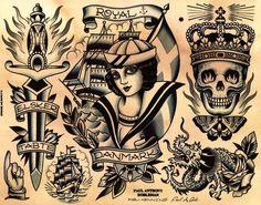 You got a henna tattoo that said forever — Paul Anthony Dobleman Tattoo Flash Sheet, Tattoo Flash Art, Traditional Tattoo Design, Traditional Tattoo Flash, Navy Tattoos, Trendy Tattoos, Tattoos Skull, Sailor Jerry, Tatto Old