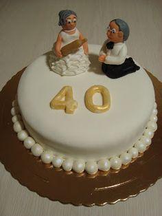 Bolos caTITA: Bodas de Rubí 40 anos casados
