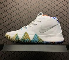 uk availability 4bb74 8fdb8 2018 Nike Kyrie 4 90s Multicolor Nike Kyrie, Sports Shoes, Basketball Shoes,  Lateral