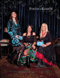 The #Cowgirl version of our December /Holiday ad. All clothing by #VintageCollection. We had a lot of fun at #Absolve Wine Bar. Thank you! December 2011. #CowgirlMagazine.