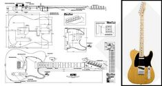Telecaster-Style Electric Guitar Plan - Buy any 2 get 1 free!