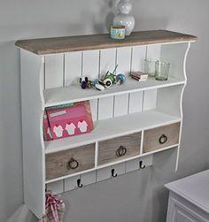 http://ift.tt/1UZCo9Q Wandregal Wandablage Garderobe braun weiß Landhaus NEU antik Gewürzregal Holz !lonmawe$