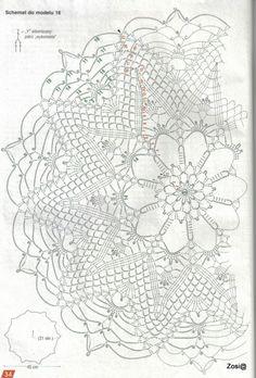 1000 Mailes - Brindusa S - Picasa Web Albums Débardeurs Au Crochet, Crochet Doily Diagram, Crochet Dollies, Crochet Circles, Crochet Stitches Patterns, Crochet Chart, Crochet Home, Thread Crochet, Filet Crochet
