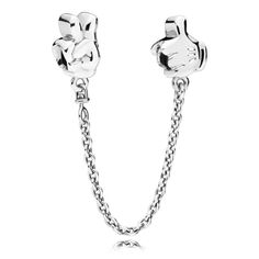 The iconic gloves of Disney Mickey Mouse are immortalised on this playful safety chain in sterling silver and white enamel. Shop your Pandora Sale under here. Charms Pandora, Disney Pandora Bracelet, Pandora Beads, Disney Jewelry, Pandora Bracelets, Pandora Jewelry, Silver Bracelets, Colar Pandora, Pandora Necklace