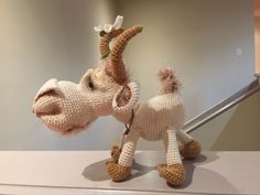 Billy Goat by Elena Ermak. Loved making this fella! Amigurumi Patterns, Goats, Dinosaur Stuffed Animal, Craft, Crochet, How To Make, Diy, Animals, Hand Crafts