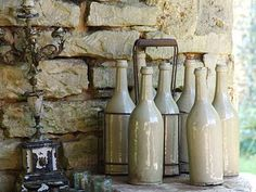 Authenic french cider bottles from French Country Brocante...love these!