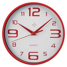Premier Housewares Red Wall Clock – 2200571 – Add a touch of warmth and luxury to your home with the red collection of homeware and cookware from Premier Housewares, a leading supplier and distributor to the retail trade of kitchenware, tabletop & bathroom accessories, soft furnishings, decorative accessories, lighting and occasional furniture. Purchase from a host of online stores and independent local retailers and please visit http://www.premierhousewares.co.uk for trade enquiries.