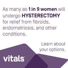 Did you know that 600,000 hysterectomies are performed annually in the United States? http://www.vitals.com/patient-education/hysterectomy
