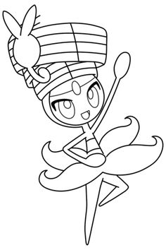 Click To See Printable Version Of Meloetta Pokemon Coloring Page