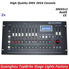 350.00$  Buy here - http://ali01e.worldwells.pw/go.php?t=32782747339 - 2Pcs/Lot New DMX 2024 Controller DMX 512 Stage Light Console DMX Lighting Controller 504 channels For Stage Dj Disco Laser Light
