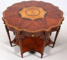 ~ Maitland-Smith Mahogany Parlor Table ~ liveauctioneers.com