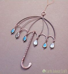 Suncatcher Rainy Umbrella Whimsical Art by EarthBalanceCraft