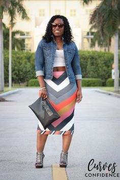 | Jacket – Old Navy | Tank – H&M | Skirt – ASOS | Booties – Guess | Clutch – F21 |