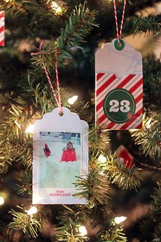 DIY Advent Calendar Tree with the HP Sprocket Portable Printer - 730 Sage Street All Things Christmas, Simple Christmas, Christmas Holidays, Christmas Crafts, Christmas Decorations, Christmas Ornaments, Christmas Ideas, Modern Christmas, Christmas Inspiration