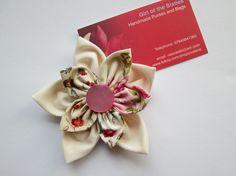 Double Flower Fabric brooch £4.00