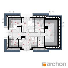 Dom w śliwach 2 (G) House Outside Design, Thing 1, Traditional House, Floor Plans, Floor Plan Drawing, House Floor Plans