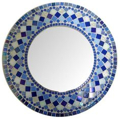 Items similar to Mosaic Mirror Round 17 on Etsy Mosaic Tile Table, Mirror Mosaic, Mosaic Diy, Mosaic Crafts, Mosaic Wall, Mosaic Tile Designs, Mosaic Patterns, Stained Glass Birds, Stained Glass Panels